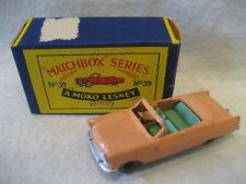 vintage Moko Lesney FORD ZODIAC CONVERTIBLE no.39 Matchbox series car diecast !!