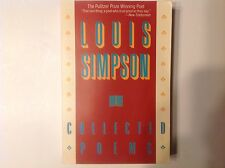 Collected poems (paperback, 1990) by Louis Simpson_PULITZER PRIZE POET AUTHOR