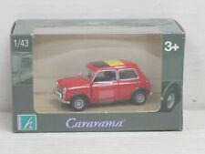 Mini Cooper in rot / belgische Fahne auf dem Dach, Cararama/Hongwell, OVP, 1:43