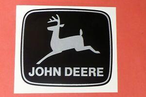 JOHN DEERE 4 inch wide 2-legged Silver Deer DECALS Tractor Computer Cut J1954