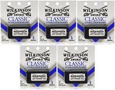 Wilkinson Sword CLASSIC Double Edge Razor Blades (5 packs of 5 = 25 Blades)