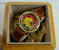 Disney The Lion King Simba Limited Edition Pedre Watch with Wooden Box with COA