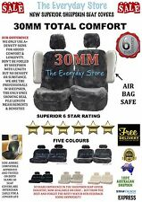 PREMIUM SHEEPSKIN (LAMBSWOOL) CAR SEAT COVERS PAIR 30MM AIRBAG SAFE RRP $459