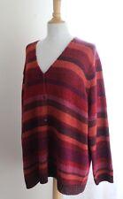 NEW Jones New York -Sz 3X Rich Variegated Knit Jewel Artsy Cardigan Sweater