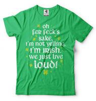 Funny Irishman yelling T-shirt St Patrick's Day Drinking Party Shirt Mens Tee