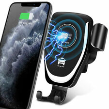 10W Qi Wireless Fast Car Charger Mount Phone Holder For Galaxy S10+ iPhone 11 Xs