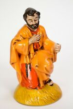 Vintage Tall Nativity Figurine Kneeling Wise Man Chalk Ware Replacement
