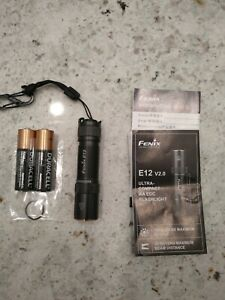 Fenix E12 V2.0 160 Lumens Flashlight. Used. Includes Extra AA Battery. No Clip.
