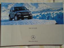 Mercedes M Class brochure Aug 2004