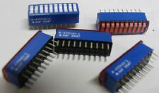 pack of 5 x AMP 4-435640-1 10 way DIP switch