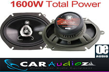 "5x7"" 6x8"" New 2 way car audio door shelf speakers pair 1600W Total Pair Power"