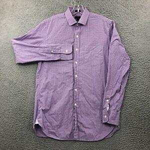 J.CREW Shirt Mens Medium M Button Up Ludlow Collared Long Sleeve Plaid Purple
