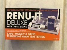 Renu-It Deluxe Disposable Battery Charger Regenerator With Tablet Stand Viatek