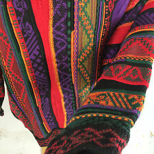Vintage 3D Print Abstract Textured Croft Barrow Ugly Christmas Sweater 80s 90s L