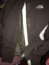 Womens North Face Jacket Sz M Brown/Ivory Removable Hoodie & Hat 3 In 1