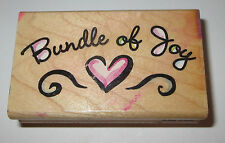 Bundle of Joy Rubber Stamp Heart Babies Baby Announcement Shower Invitation