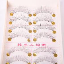 Neu Mode Set 10 Paar Falsche Wimpern künstliche Eyelashes Schwarz