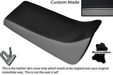 BLACK & GREY CUSTOM FITS YAMAHA BLASTER YFS 200 DUAL LEATHER SEAT COVER