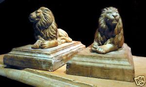 Lion stone Vatican sculpture statue figurine book end holder figurine art animal