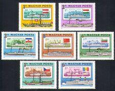 Hungary 1981 Boats/Ships/Paddle-steamers/Transport/Danube/S-on-S 7v set (n34337)