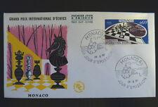 MONACO PREMIER JOUR FDC YVERT  724       LES ECHECS       0,60F       1967