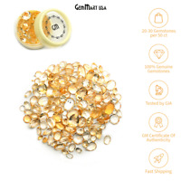 Citrine Natural Loose Gemstones Mixed Cut Faceted Stones DIY Gems Wholesale Lots