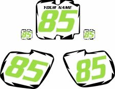 1985 Kawasaki KX125 Pre-Printed White Backgrounds with Black Shock/Green Number