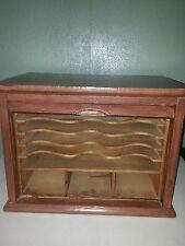 Antique E. H.Stafford Mfg Co Oak Roll Top Desk Organizer Original Tag. RARE!