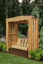 Live Edge Locust Wood 5ft Appalachian Arbor with 4ft Timberland Swing w/Rope