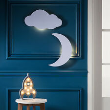 Juego de 3 LED dekolampen Cohete nube luna Noche Luz Lámpara de Pared Interior