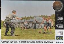 "1/35 Master Box 35149  ""German Tankers"", A Break between Battles, playing soccer"