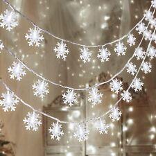 LED Lichterkette Mit 30LED Schneeflocke Licht Batterie Für Weihnachten Deko DHL