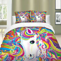 Colorful Unicorn Duvet Cover Set Twin/Full/Queen/King Size Bedding Set Animal