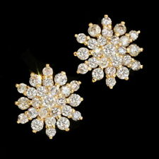 1Ct Natural Diamond 10K Yellow Gold Engagement Cocktail Earrings EWG120Y-10-1