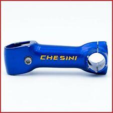 "CHESINI 110mm 1"" INCH STEM BLUE THREADLESS 90s VINTAGE AHEAD ROAD RACING BIKE"