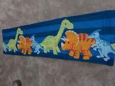 Dinosaur Dinosaurs blue orange green remnant crafts fabric piece 130x35cm