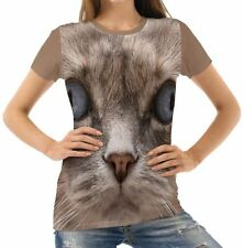 Unbranded Cotton Blend Cats Plus Size T-Shirts for Women