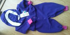 Girls Snowsuit 24 Mos In Design Teddy Purple Soft Thick Ruffle Fleece Snap NEW
