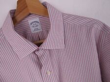 F288 BROOKS BROTHERS SHIRT TOP SLIM-FIT STRIPS ORIGINAL PREMIUM size 16-36
