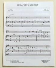 Partition sheet music MICHEL FUGAIN : Un Café et l'Addition * 80's