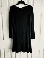 $295 NWT Tory Burch Black Tunic Long Sleeve Dress