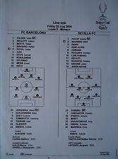 Line-ups UEFA Super Cup 2006 fc barcelona-sevilla fc