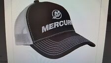 "MERCURY OUTBOARDS PARTS ""NEW"" ""M"" MERCURY BLACK & GREY WITH MESH * ""CAP HAT"""
