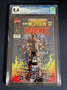 Marvel Comics Presents #72 CGC Graded 9.4 White Pages Wolverine Weapon X Key
