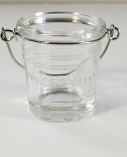 Yankee Candle CLEAR BUCKET - Colored Glass With Logo Votive Holder NEW with Tags