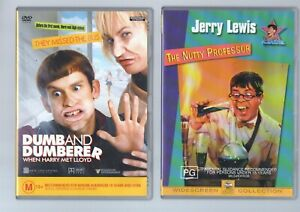 The Nutty Professor + Dumb and Dumberer  DVD Comedy lot  Jerry Lewis