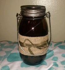 New Rustic MASON JAR LANTERN Tea Light Candle Holder