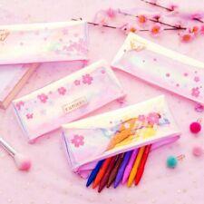 Sakura Transparent PVC Pen Bag Pencil Case Pouch Students School Supply Gifts
