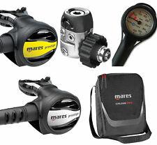 Mares Prestige 15x weis + Octopus Prestige + Finimeter + Tasche - Atemregler Set