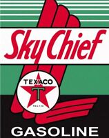 TEXACO METAL TIN SIGN SKy Chief MOTOR OIL GAS STATION VINTAGE ANTIQUE